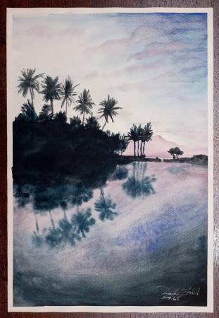 Fine Art - Final Destination - Original Watercolour Painting on paper by artist Darko Topalski