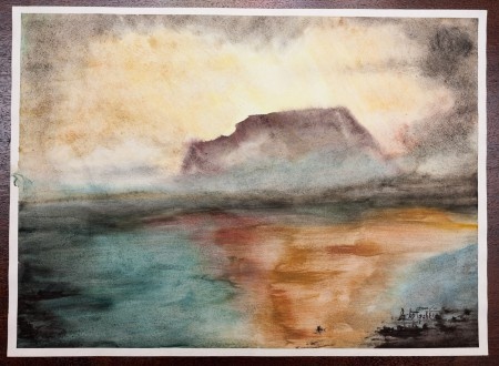 Fine Art - Island of Hope - Original Watercolour Painting on paper by artist Darko Topalski