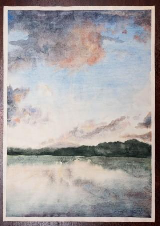 Fine Art - Protruding Rays - Original Watercolour Painting on paper by artist Darko Topalski