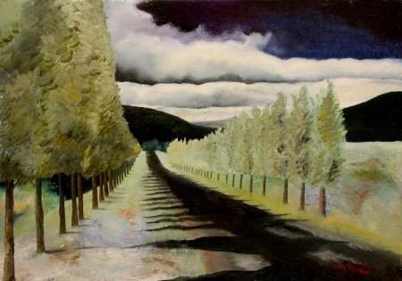 Fine Art - Road to - Original Oil Painting on HDF by artist Darko Topalski