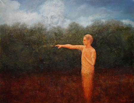 Fine Art - Golden Heart - Original Oil Painting on Canvas by artist Darko Topalski