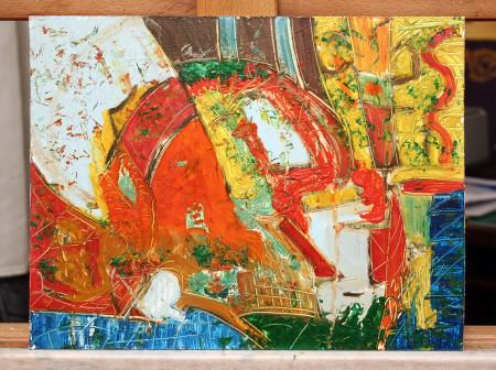 The Curse of a Pharaoh's Mellon - Oil Painting fine Art on HDF by artist Darko Topalski