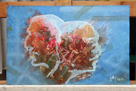 Fine Art - Duplicity - Original Oil Painting on HDF by artist Darko Topalski