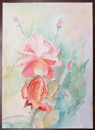 Fine Art - La Rose est Belle - Original Watercolour Painting on paper by artist Darko Topalski