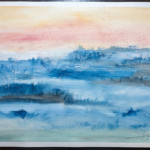 Blue Valley – WOW-no14 – Watercolor Painting