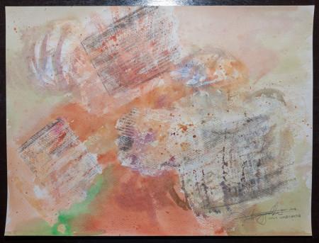 Fine Art - News Traces - WOW 15 - Original Watercolour Painting on paper by artist Darko Topalski