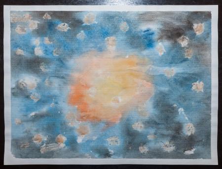 Fine Art -Spirit of the Core - WOW 8 - Original Watercolour Painting on paper by artist Darko Topalski
