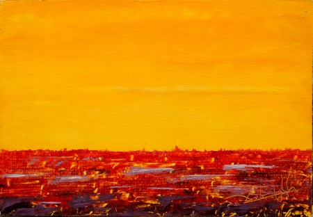 Fine Art - Feel Cadmium  - Original Oil Painting on HDF by artist Darko Topalski