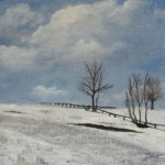 Plain Winter – Oil Painting