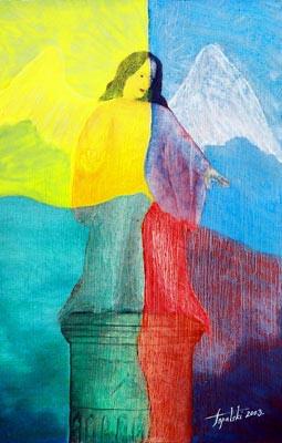 4 Elements - Oil Painting on HDF by artist Darko Topalski