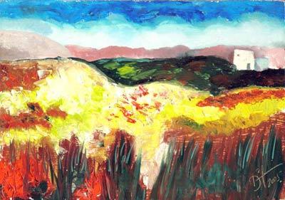 Blending Cao - Oil Painting on HDF by artist Darko Topalski