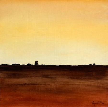 Choco Landscape - Oil Painting on HDF by artist Darko Topalski