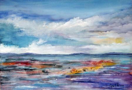 Distant Horizont - Oil Painting on HDF by artist Darko Topalski