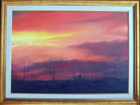 Dusk - Oil Painting on Canvas by artist Darko Topalski
