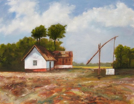 Farm - Oil Painting on Canvas by artist Darko Topalski