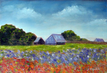 Farm House - Oil Painting on HDF by artist Darko Topalski