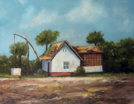 Farm House - Oil Painting on Canvas by artist Darko Topalski