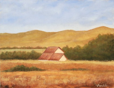 Farm Scape - Oil Painting on Canvas by artist Darko Topalski