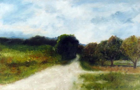Field Path - Oil Painting on HDF by artist Darko Topalski