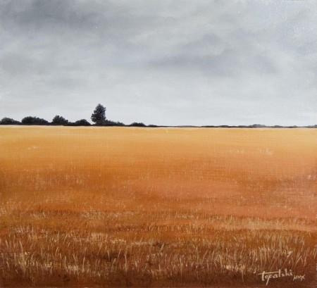 Fields - Oil Painting on HDF by artist Darko Topalski