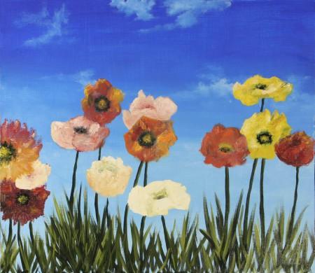 Flowers - Oil Painting on HDF by artist Darko Topalski