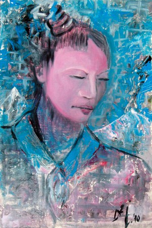 Geisha - Oil Painting on HDF by artist Darko Topalski