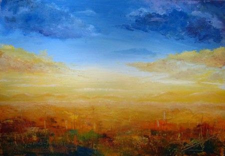 Golden Dawn - Oil Painting on HDF by artist Darko Topalski