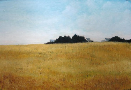 Golden Fields - Oil Painting on HDF by artist Darko Topalski
