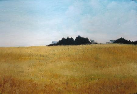 Golden Fields - Oil Painting on HDF by artist Darko Topalski