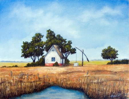 Granny's Farm - Oil Painting on Canvas by artist Darko Topalski