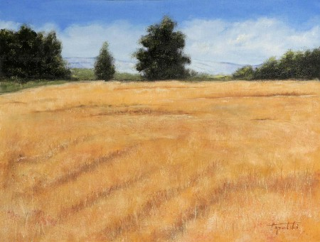In the Fields - Oil Painting on Canvas by artist Darko Topalski