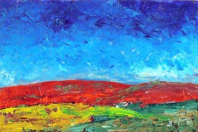 In the Flow - Oil Painting on HDF by artist Darko Topalski
