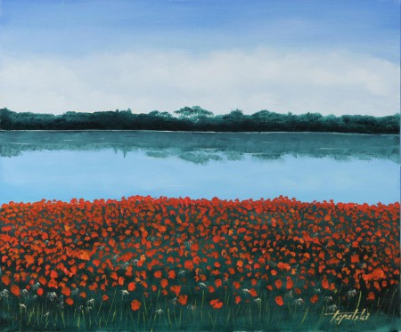 Lake  - Oil Painting on HDF by artist Darko Topalski