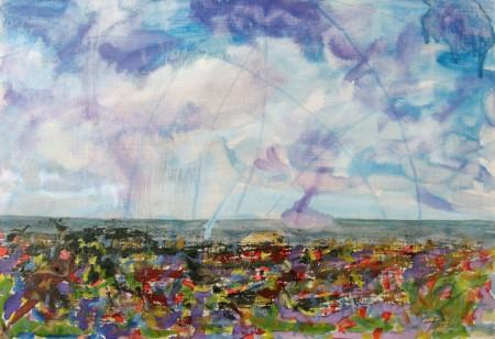 Landscape Enformel - Oil Painting on HDF by artist Darko Topalski