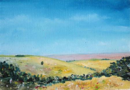 Landscape - Oil Painting on HDF by artist Darko Topalski