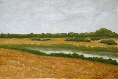 Old River - Oil Painting on HDF by artist Darko Topalski