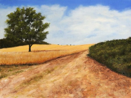 Path through the Fields - Oil Painting on Canvas by artist Darko Topalski