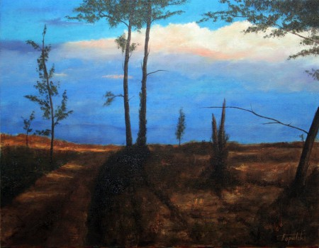 Path through the Forest - Oil Painting on Canvas by artist Darko Topalski