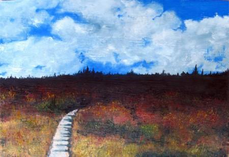 Path through... - Oil Painting on HDF by artist Darko Topalski