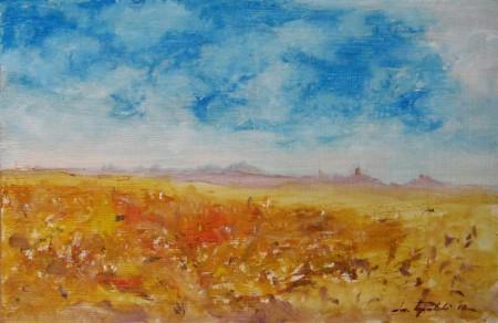 Plain - Oil Painting on HDF by artist Darko Topalski