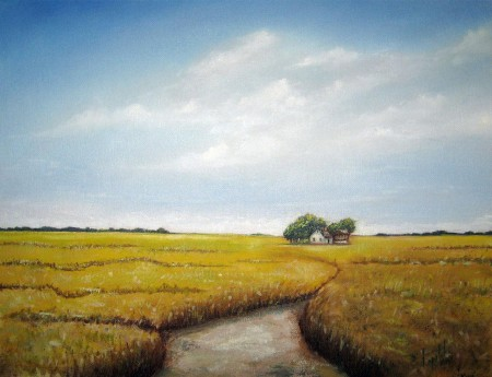 Road to - Oil Painting on Canvas by artist Darko Topalski