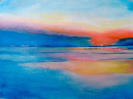 Seascape - Oil Painting on HDF by artist Darko Topalski