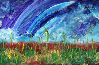 Sky-o-Rama - Oil Painting on HDF by artist Darko Topalski