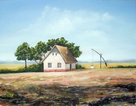 Uncle's Farm - Oil Painting on Canvas by artist Darko Topalski