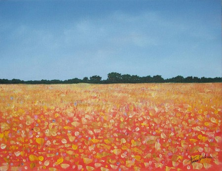 What a Field - Oil Painting on Canvas by artist Darko Topalski