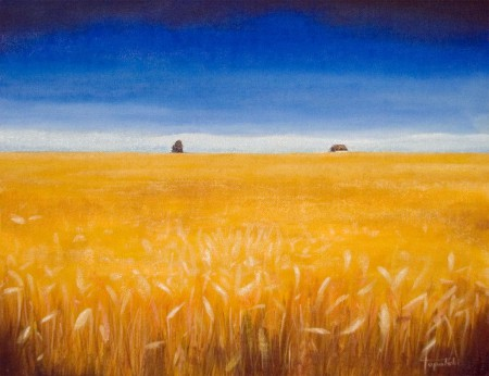 Wheat Field - Oil Painting on Canvas by artist Darko Topalski