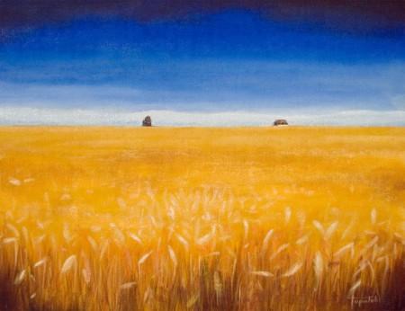 Wheat Field - Oil Painting on Canvas by artist Darko Topalski