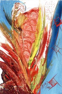 A Curtain in Savanah - Oil Painting on HDF by artist Darko Topalski