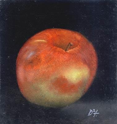 Apple - Oil Painting on HDF by artist Darko Topalski