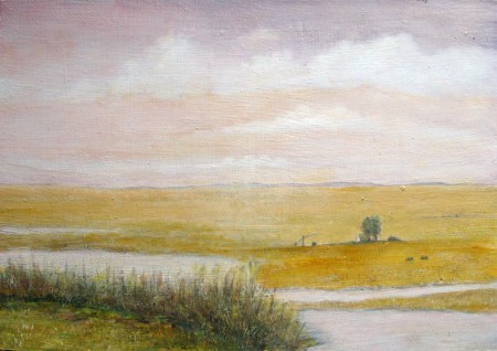 At the Other Side - Oil Painting on HDF by artist Darko Topalski